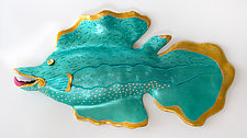 Golden Eye by Byron Williamson (Ceramic Wall Sculpture)