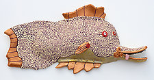Royale Sizzle by Byron Williamson (Ceramic Wall Sculpture)