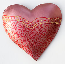 Brave Heart by Byron Williamson (Ceramic Wall Sculpture)