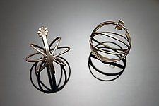 Large Cage Earrings by Ashley Vick (Silver Earrings)
