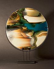 Reactions IV by Vicky Kokolski and Meg Branzetti (Art Glass Sculpture)