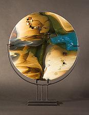 Reactions V by Vicky Kokolski and Meg Branzetti (Art Glass Sculpture)