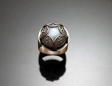 Moonstone Ring with Decorative Bezel by Ashley Vick (Silver & Stone Ring)