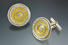 Sunrise Cuff Links by Sana  Doumet (Gold & Silver Cuff Links)