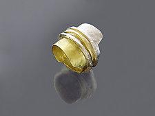 Three Band Ran Ring by Sana  Doumet (Gold & Silver Ring)