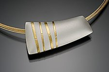 Bamboo Pillow by Tom McGurrin (Silver & Gold Necklace)
