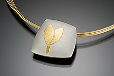 Tulip Pillow with 3 Strands Necklace by Tom McGurrin (Silver & Gold Necklace)