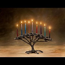 Tree of Life Menorah by Scott Nelles (Metal Menorah)