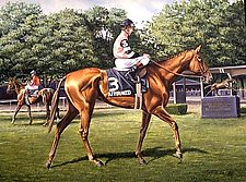 Affirmed at Belmont by Werner Rentsch (Oil Painting)