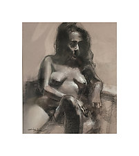 Female Figure by Cathy Locke (Charcoal Drawing)