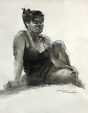 Prudence by Cathy Locke (Charcoal Drawing)