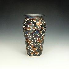 Raku Puzzle Vessel I by Lance Timco (Ceramic Vessel)