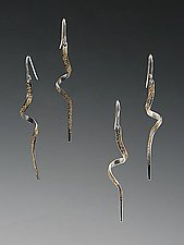 Spiral Gold Dust Earrings by Dean Turner (Gold & Silver Earrings)