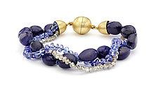 Lapis, Labradorite, and Tanzantite Bracelet by Pamela Huizenga  (Gold & Stone Bracelet)