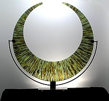 Banded Crescent by George Scott (Art Glass Sculpture)