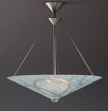 Clear Rings by George Scott (Art Glass Pendant Lamp)