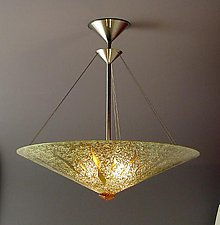 Sunburst Cone by George Scott (Art Glass Pendant Lamp)