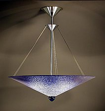 Cobalt Cone by George Scott (Art Glass Pendant Lamp)