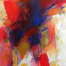Red Abstraction by Debora  Stewart (Acrylic Painting)