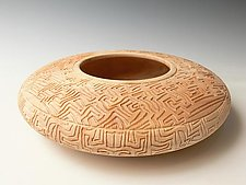 Maze Hollow Form by Dewey Garrett (Wood Vessel)