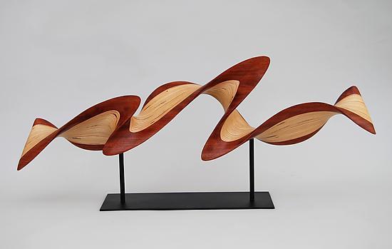 Fabulous Small Flash on Metal Base by Kerry Vesper (Wood Sculpture  SR32