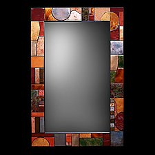 Art Deco Metallic Mirror by Kim Eubank (Metal Mirror)