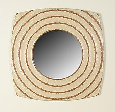 Buttermilk Circles Mirror by John Kingsley (Wood Mirror)