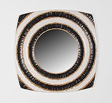 Black & White Circles Mirror by John Kingsley (Wood Mirror)