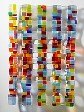 Small Retro Mesh Sculpture by Renato Foti (Art Glass Sculpture)