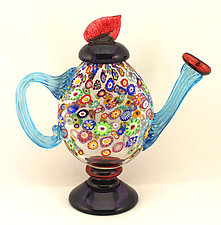 Impressionist Teapot II by Ken Hanson and Ingrid Hanson (Art Glass Teapot)