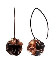Rose Flora Drop Earrings by Chihiro Makio (Silver Earrings)