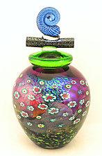 Amethyst Wish Keeper by Ken Hanson and Ingrid Hanson (Art Glass Vessel)