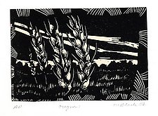 Oregon III by Midge Black (Linocut Print)