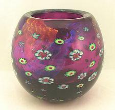 Amethyst Island Series Bowl by Ken Hanson and Ingrid Hanson (Art Glass Vessel)