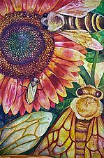 Where Are The Bees? II by Helen Klebesadel (Watercolor Painting)