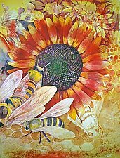 Where Are The Bees? I by Helen Klebesadel (Watercolor Painting)
