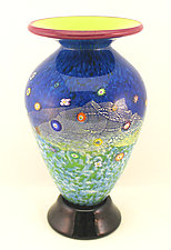 Classic Meadow Blossom Vase by Ken Hanson and Ingrid Hanson (Art Glass Vase)