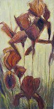 Iris #1 by Jan Fordyce (Oil Painting)