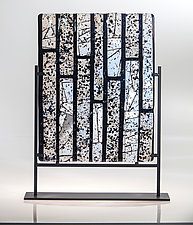 Black Squared by Varda Avnisan (Art Glass Sculpture)