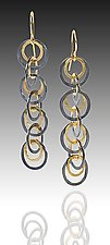 Shadow Earrings by Heather Guidero (Gold & Silver Earrings)