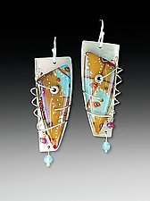 Barbara Earrings by Sue Savage (Silver & Polymer Earrings)