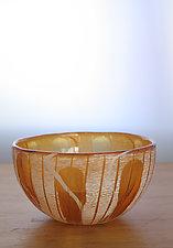 Gold Bowl by Richard S. Jones (Art Glass Bowl)