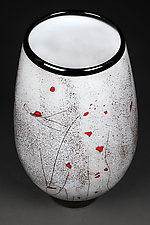Zimska Jabuka (Winter Apples) Large Prototype Vase by Eric Bladholm (Art Glass Vessel)