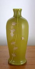 Ginkgo Meiping Vase by Richard S. Jones (Art Glass Vase)