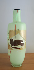 Dove Vase by Richard S. Jones (Art Glass Vase)