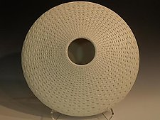 White Oval by Michael Wisner (Ceramic Vessel)
