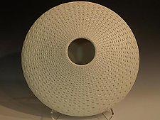 White Oval by Michael Wisner (Ceramic Vessel)