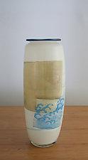 Wave Tile Vase by Richard S. Jones (Art Glass Vase)
