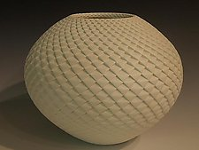 White Pinecone by Michael Wisner (Ceramic Vessel)