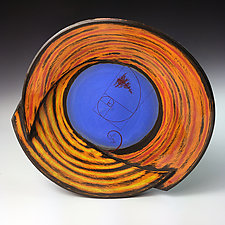 Spiral Plate with Tree and Sprout by Thomas Harris (Ceramic Plate)